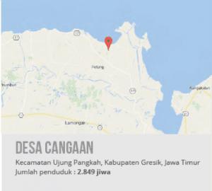 Peta Desa Cangaan, Kecamatan Ujung Pangkah, Kabupaten Gresik, Jawa Timur