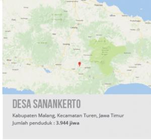 Peta Desa Sanan Kerto