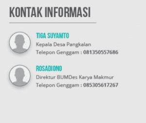 Kontak BUMDes Karya Makmur