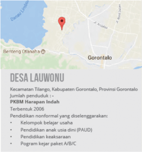 Peta Desa Lauwonu,Gorontalo