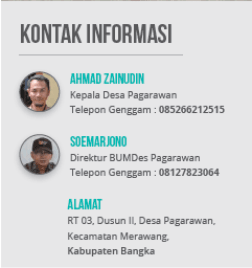 kontak Pemerintah Desa Pagarawan