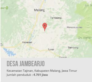 Peta Desa Jambearjo, Kecamatan Tajinan, Kabupaten Malang, Jawa Timur
