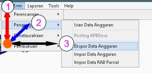 Ekspor data siskeudes