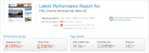 kecepatan website karangmojo