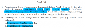 Permendagri 113 pasal 18