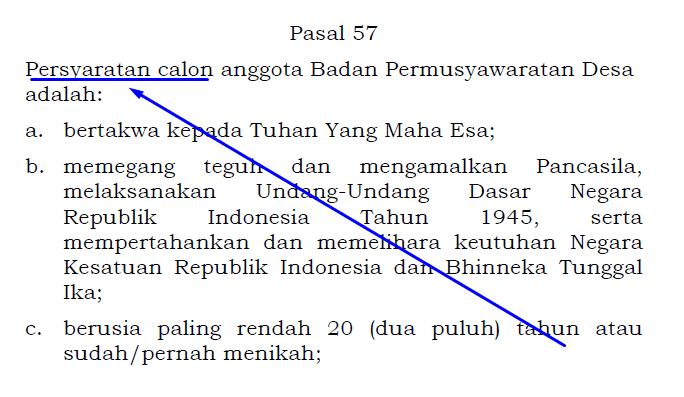 persyaratan calon BPD