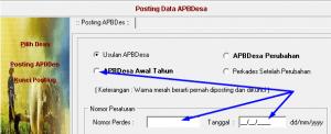 posting APBDes