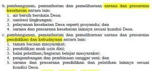 Lanjutan 1 pasal 6 ayat 3 permendagri 114