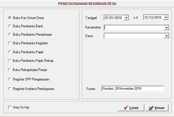 Laporan Penatausahaan Versi 2018