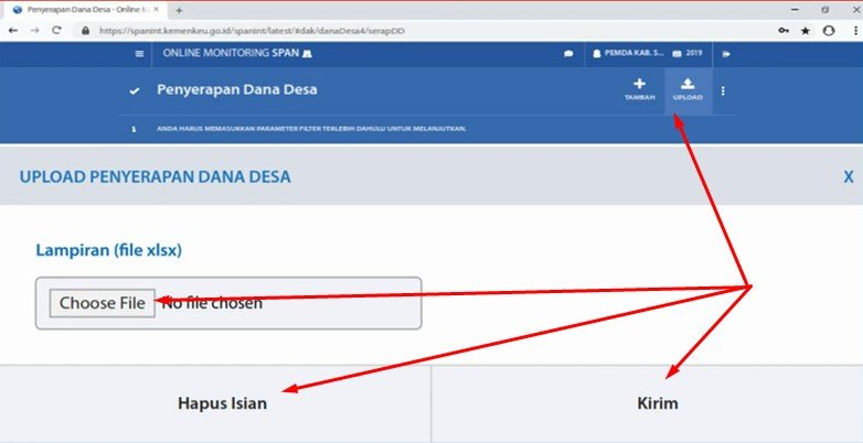 upload output dana desa omspan