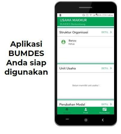 aplikasi bumdes siap digunakan