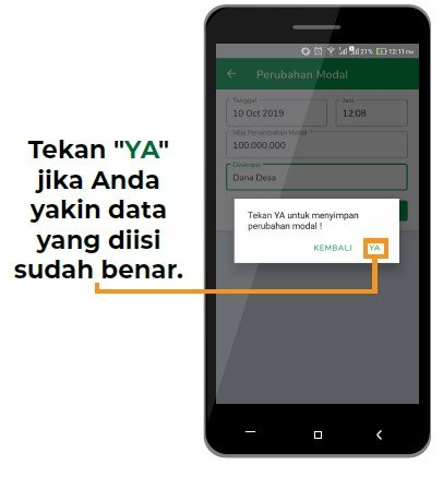 data perubahan modal aplikasi bumdes