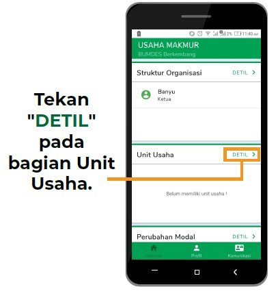 detail unit usaha bumdes