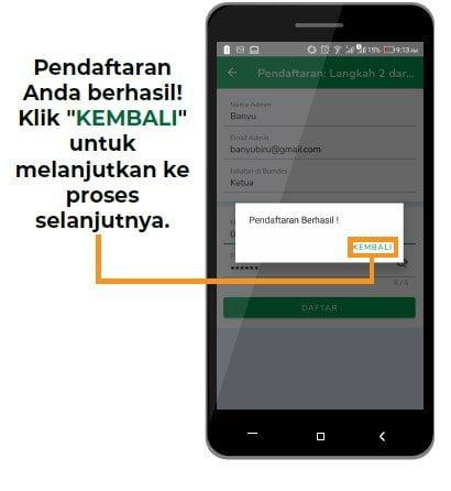 pendaftaran aplikasi