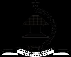 logo lembaga pemberdayaan masyarakat hitam putih