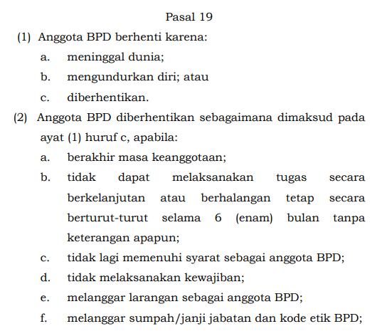 sanksi anggota BPD