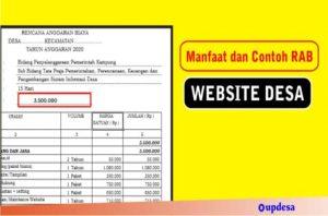 manfaat website desa