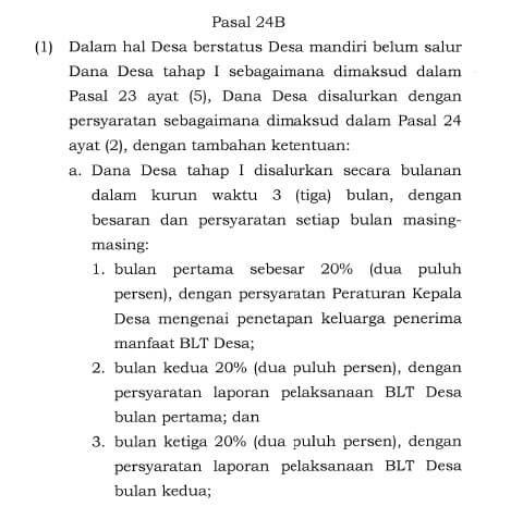 Permenkeu 40/2020 pasal 24B ayat 1a