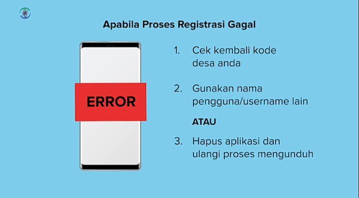 aplikasi desa melawan covid 19 error