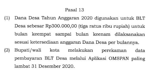 pasal 13 pmk 101 tahun 2020