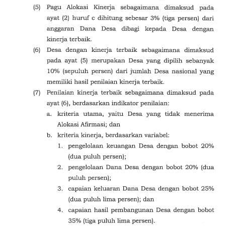 Permendagri 222 Tahun 2020 Pasal 6