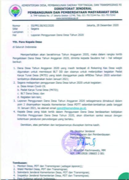 Surat Edaran Dirjen PPMD