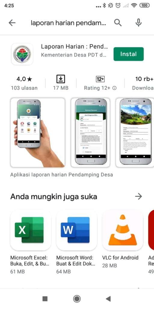 aplikasi laporan harian penamping desa