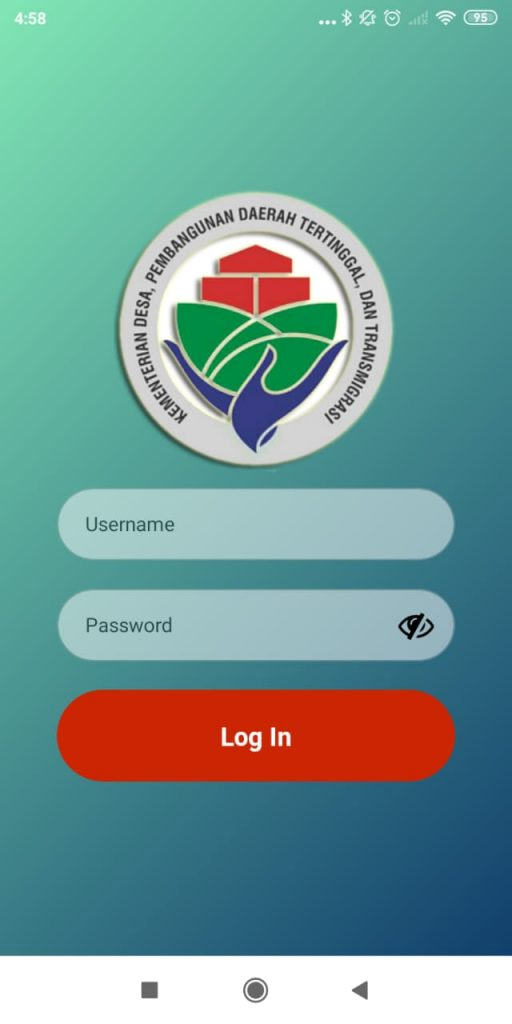 tampilan aplikasi laporan pendamping desa