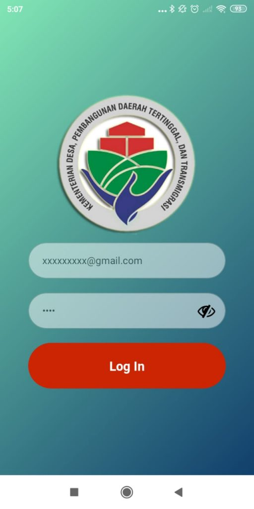 cara login aplikasi laporan tenaga pendamping profesional desa
