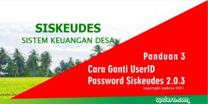 UserID Password Siskeudes 2.0.3