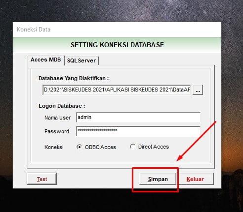 simpan database