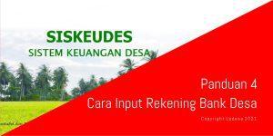Cara Input Rekening Bank Desa Siskeudes 2.0.3