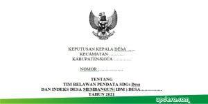 SK Tim Relawan Pendata SDGs Desa