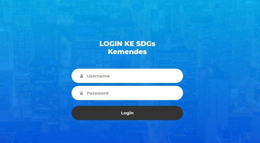 login ke SDGs Kemendes