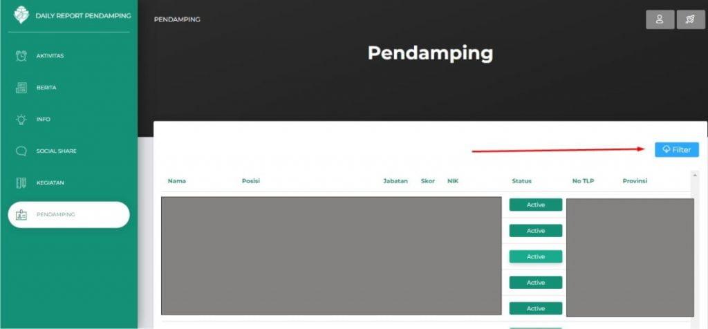 pendamping http://dailyreportpendamping.kemendesa.go.id/login
